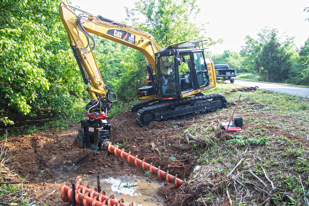 Roadbed erosion is managed through clearing culverts