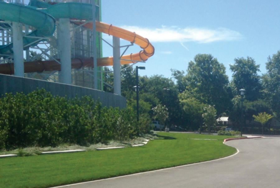 Grass Pavers Help Water Park Complete the Water Cycle