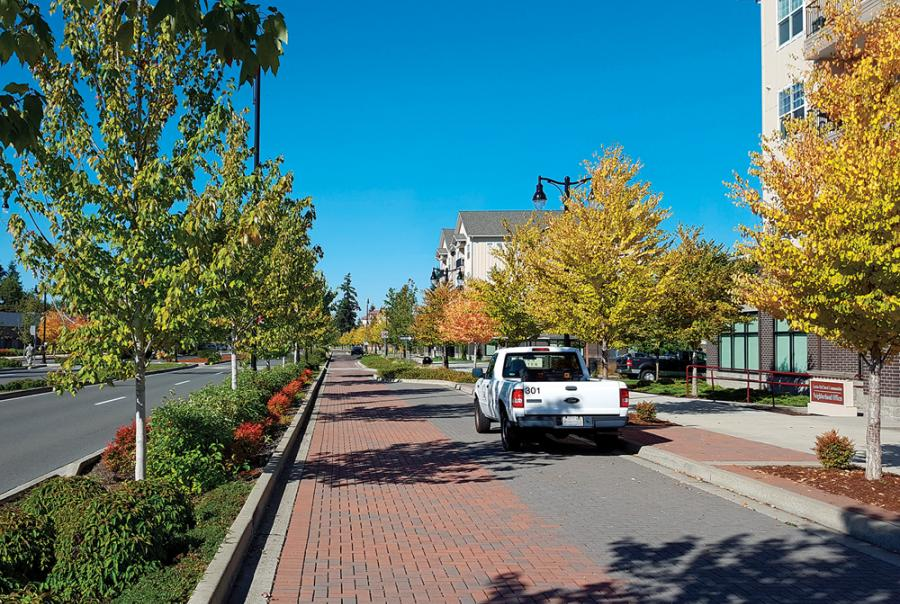 Military Base Installs Permeable Pavers on Main Street